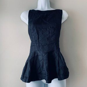 H&M pleated peplum sleeveless  top size US8